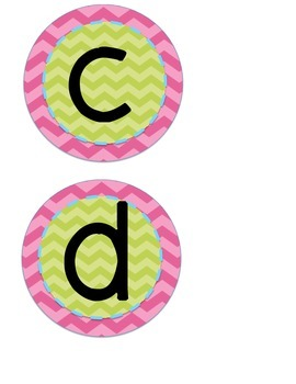 Word Wall Letters {Pink and Green}