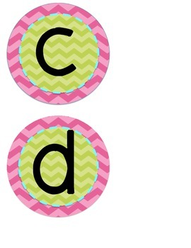 Word Wall Letters {Pink and Green-with vowels highlighted}