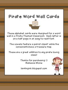 Word Wall Letters {Pirate Theme}