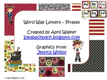 Word Wall Letters - Pirate Themed