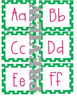 Word Wall Letters (Polka Dot)