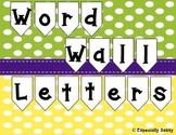 Word Wall Letters Polka Dot Chalkboard