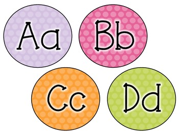 Word Wall Letters- Polka Dots