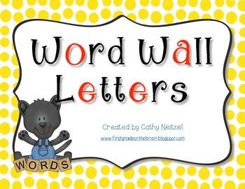 Word Wall Letters Polkadot Set