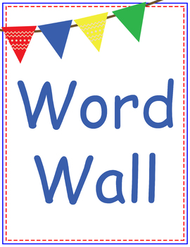 Word Wall Letters  {Primary Colors}
