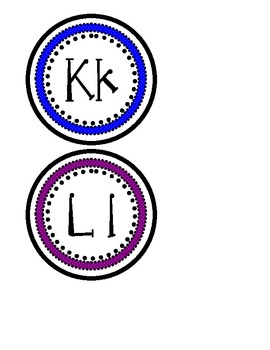 Word Wall Letters- Primary Colors