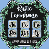 Word Wall Letters - RUSTIC FARMHOUSE Themed