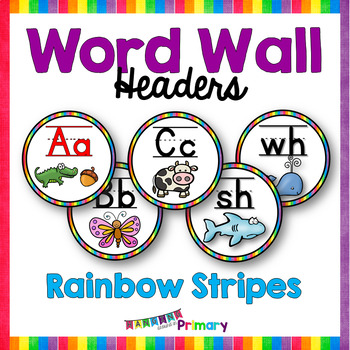 Word Wall Letters / Headers - Rainbow