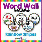Word Wall Letters / Headers - Rainbow