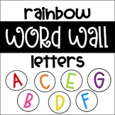 Word Wall Letters - Rainbow Alphabet Circles