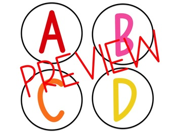 Word Wall Letters - Rainbow Alphabet Circles