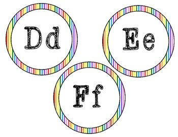 Word Wall Letters {Rainbow Circles} {Dollar Deal}