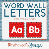 Word Wall Letters - Red