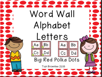 Word Wall Letters Red Dots