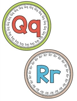 Word Wall Letters - Round