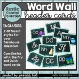 Word Wall Letters (Rustic Coastal)