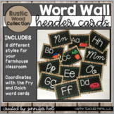 Word Wall Letters (Farmhouse Rustic Wood)