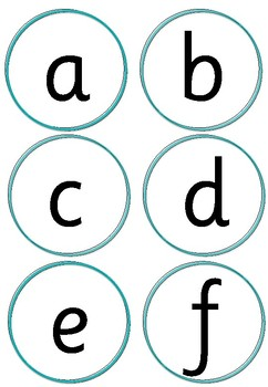 Word Wall Letters (Sassoon font)