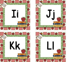 Word Wall Letters School Theme & Table Numbers 1-10