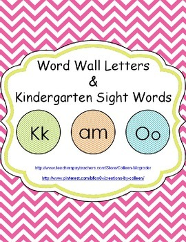 Word Wall Letters & Sight Words in Chevron {editable}