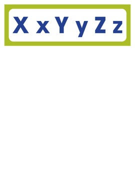 Word Wall Letters (Simple - Great for Special Education)