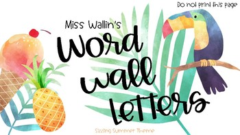 Word Wall Letters (Sizzling Summer Theme)