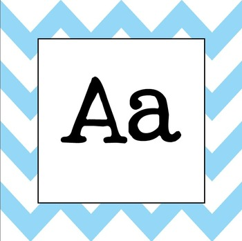 Word Wall Letters (Sky Blue Chevron)