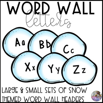 Word Wall Letters: Snow Theme