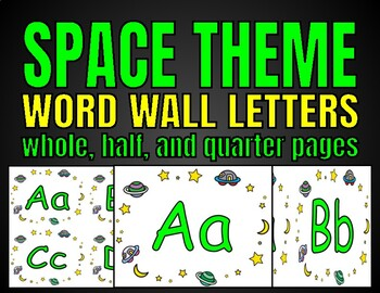 Word Wall Letters (Space)
