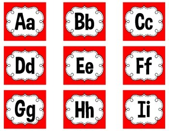Word Wall Letters - Spanish & English Alphabet