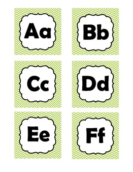 Word Wall Letters (Spanish alphabet)