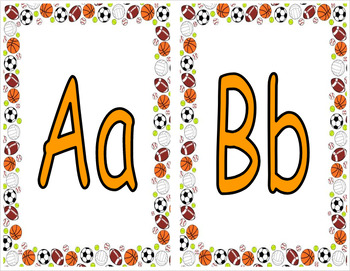 Word Wall Letters (Sports)