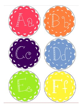 Word Wall Letters- Spring Themed Pallete