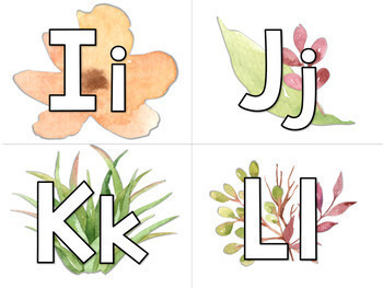 Word Wall Letters; Succulent and Floral Design with 6 format options!