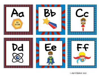 Word Wall Letters - Superheroes