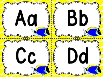 Word Wall Letters Tang Fish