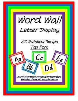 Word Wall Letters- Tas Font