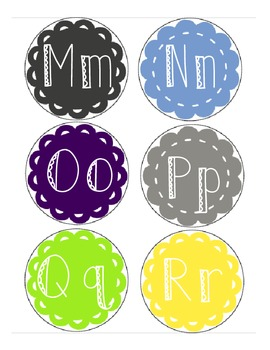 Word Wall Letters- Too Cool For School Pallete