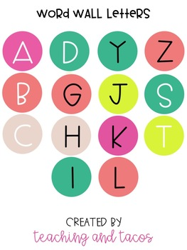 Word Wall Letters - Tropical