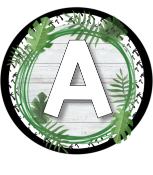 Word Wall Letters - Tropical Theme