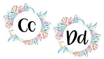 Word Wall Letters (Under the Sea Theme)