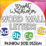 Word Wall Letters; Watercolor Backgrounds