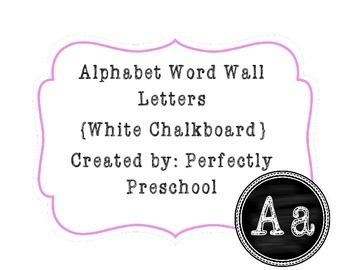 Word Wall Letters {White Chalkboard} {Dollar Deal}