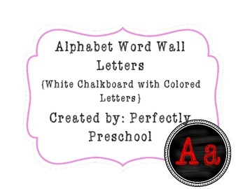 Word Wall Letters {White Chalkboard with Colored Letters}