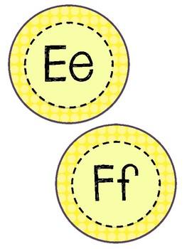 Word Wall Letters- Yellow- FREEBIE!