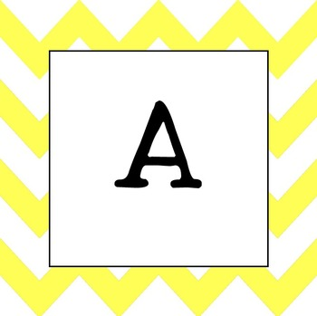 Word Wall Letters (Yellow Chevron UPPER CASE)