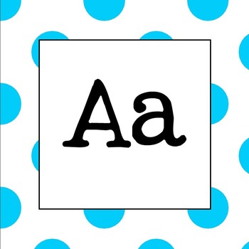 Word Wall Letters (Light Blue Polka Dot)