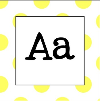 Word Wall Letters (Yellow Polka Dot)
