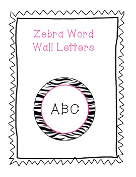 Word Wall Letters Zebra Background