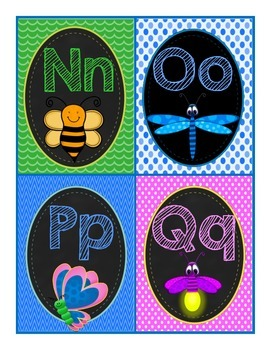 Word Wall Letters and 224 Sight Words for Back to School (Bug Version)